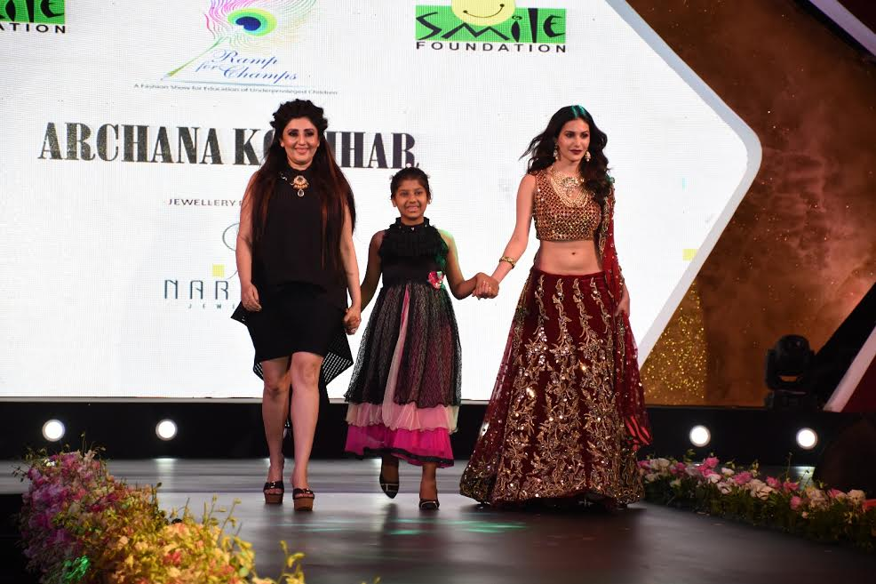 Designer Archana Kochhar & Narayan Jewellers supports girl child edution with smile Foundation's Ramp for Champs