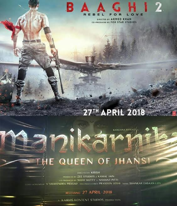Baaghi 2 and Manikarnika: The Queen Of Jhansi to clash at the Box office