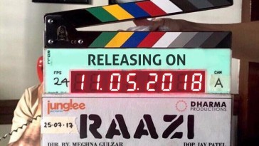 Film Raazi to release on 11th May 2018