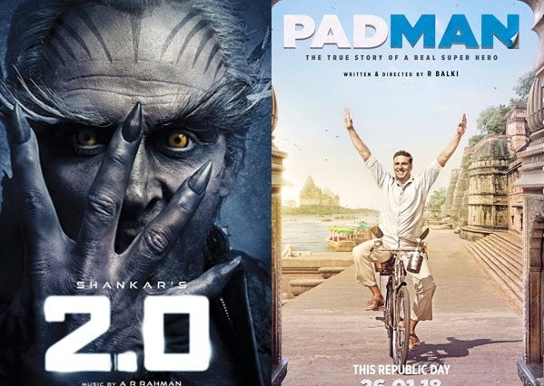 Film Padman to release on 26th January 2018 along with 2.0