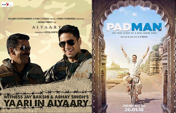 Film Aiyaary to clash with Film Padman on 26th January 2018