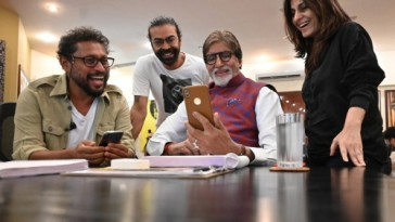 Shoojit, Ronnie Lahiri, Mr Bachchan and Juhi Chatturvedi