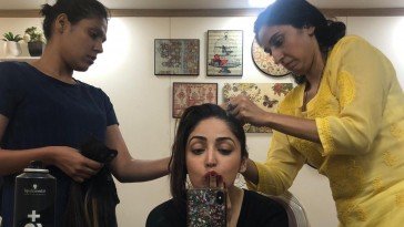Yami Gautam on sets of Bala